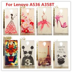 Luxury Crystal Diamond 3D case for Lenovo A536 A358T /Bling Shine Hard Protector Case Cover For Lenovo A358T cases