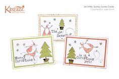 2H1998c Quirky Santa Cards
