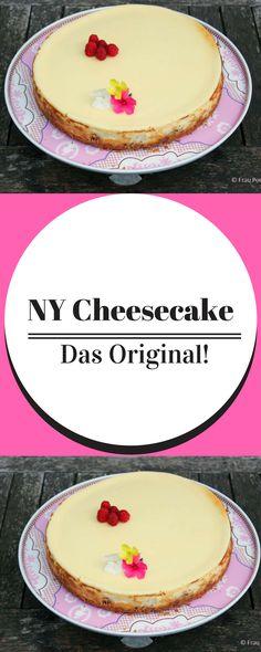 Dieser NY Cheesecake katapultiert einen kulinarisch direkt in die USA, nach New York.  Käsekuchen Rezept | Original American Cheesecake | Kuchen Rezept | backen | amerikanisch backen | Torte | Cheesecake backen