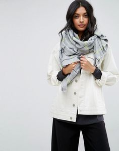 Get this Asos's scarf now! Click for more details. Worldwide shipping. ASOS Neon Check Long scarf - Grey: Scarf by ASOS Collection, Soft knitted fabric, Checked design, Machine wash, 100% Acrylic. Score a wardrobe win no matter the dress code with our ASOS Collection own-label collection. From polished prom to the after party, our London-based design team scour the globe to nail your new-season fashion goals with need-right-now dresses, outerwear, shoes and denim in the coolest shapes and…