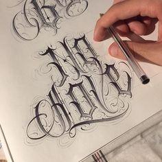 No photo description available. Chicano Tattoos Lettering, Tattoo Lettering Styles, Tattoo Design Drawings, Tattoo Script, Tattoo Fonts, Body Art Tattoos, Tattoo Quotes, Hand Lettering Alphabet, Script Lettering