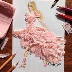 Opdracht 5b: modefiguur tekenen in profiel en kledij ontwerpen met recyclagemateriaal