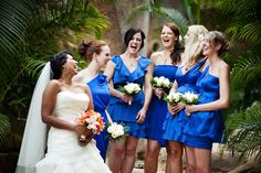 electric blue bridesmaid dresses.  image by licensetostill.com