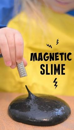 Homemade Magnetic Slime- TOO COOL! This stuff takes minutes to make & is a sure ...