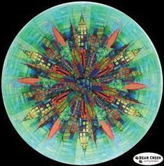 Skylines Circle Free Quilt Pattern by Hoffman Fabrics   Crafts to ... : hoffman free quilt patterns - Adamdwight.com