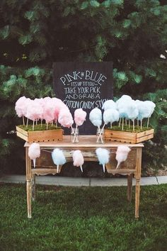 Ideas from Knots and Kisses Wedding Stationery #candyfloss #wedding
