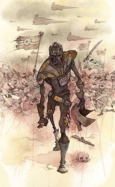 "Star Wars: ""Vader's Helmet"" Limited Edition Giclée on Canvas by Gris Grimly. Image Size: 14"" X 18"". Originally recognized for his dark yet humorous illustrations for young readers, Grimly has transcended beyond the realm of picture books through writing, gallery art and film. Edition Size: 95. Comes Rolled. For more than a decade his distinctive style and wide selection of mediums have captivated a variety of loyal fans worldwide. Ris Grimly can be best described as a storyteller."