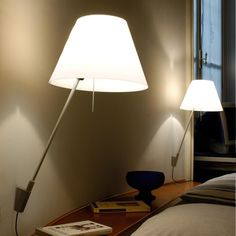 Foscarini Bahia Led Wall or Ceiling Lamp in White by Lucidi and Pevere Wall Sconce Lighting, Sconces, Small Tables, Ceiling Lamp, Aluminium, Designer, Wall Lights, Table Lamp, Led
