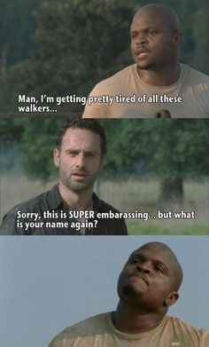 Poor T-Dog ;) #TheWalkingDead