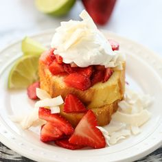 Strawberry-Lime Shortcakes with Coconut Cream | Our Best Bites