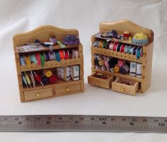 Dolls House Miniatures  Sewing Shelf x1 by LittleHouseAtPriory
