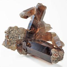 Smoky Quartz with Anatase inch lbs Natural Crystal Cluster - Brazil Crystal Cluster, Natural Crystals, Smoky Quartz, Brazil, Gems, Texture, Brown, Surface Finish, Gemstones