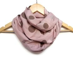Pink Scarf Dried Rose Infinity Scarf Cotton by HeraScarf on Etsy, $17.90