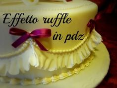 Torta effetto ruffle in pasta di zucchero by ItalianCakes