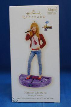Disney Miley Cyrus Hannah Montana Hallmark Christmas Ornament NIB 2009 Sound  #Hallmark