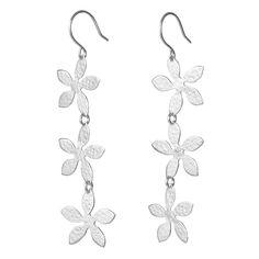 Jasmine Path Earrings handmade in sterling silver by Garden of Silver www.gardenofsilver.com