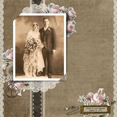 images about heritage scrapbooking Heritage Scrapbook Pages, Vintage Scrapbook, Wedding Scrapbook, Scrapbook Albums, Scrapbook Cards, Scrapbooking Photo, Digital Scrapbooking, Scrapbook Designs, Ancestry