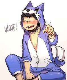 """blacklimes: """"Heya!! Long time no post @u@ School is almost out for the semester but that means twice as much work per the day!! I'll be able to post more once I'm out–for now, have a Karamatsu in his wolf kigurumi from Hesowars VuV """""""