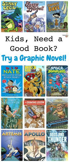 awesome graphic novels for kids (new titles for 2016 and 2017)