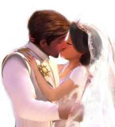 Rapunzel and Flynn's Wedding Kiss