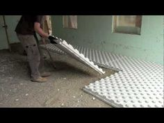 The Crete-Heat Insulated Floor Panel System is an easily assembled modular board insulation, vapor barrier, and radiant tube holding grid. Pole Barn House Plans, Cottage Floor Plans, Pole Barn Homes, Insulation Installation, Floor Insulation, Home Heating Systems, Underfloor Heating Systems, Hydronic Radiant Floor Heating, Doors And Floors