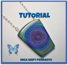 Tutorial Polymer Clay Mica Shift Swirl Pendants PDF Lesson available  via Etsy....fun step by step lesson