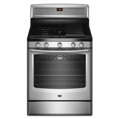 1st choice Maytag 30-in 5-Burner Freestanding 5.8 cu ft Convection Gas Range (Stainless Steel) at Lowes.com 1199