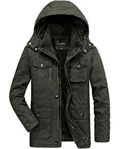 Plus Size Winter Outdoor Casual Thicken Mid Long Detachable Hood Jackets  for Mensales-NewChic Mobile 70a1a42a0