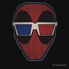 Midnight Movie Merc In 3-D by GrimmJack #deadpool #marvel #3-d