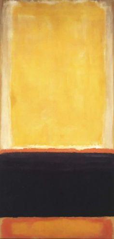 Yellow, Charcoal, Brown - Mark Rothko, pintor leton, que vivió en los EU… Mark Rothko, Rothko Art, Tachisme, Contemporary Wall Art, Modern Art, Abstract Painters, Abstract Art, Abstract Nature, Painting Art