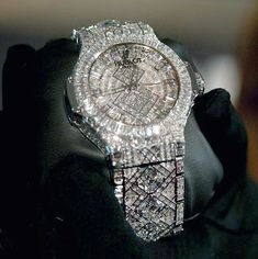 The world's most expensive watch - 5 million. Diamond Watches, Women's Watches, Million Dollar Ring, Most Expensive Wedding Ring, Heart Locket Necklace, Expensive Watches, Gemstone Engagement Rings, Luxe Life, Beautiful Watches