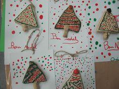 Trabajos de Navidad con pasta de sal