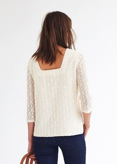 Sézane - Blouse Francoise Winter Looks, Winter Style, Style Simple, Couture Sewing, Perfect Wardrobe, French Chic, Blouse Styles, Mode Style, Lace