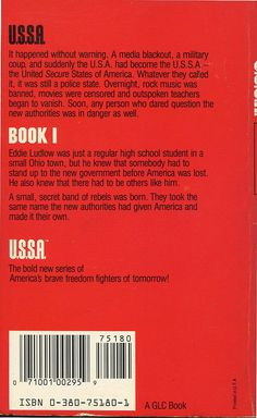 Back cover of USSA Book 1.