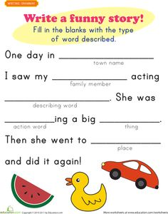 Funny stories, Funny and Worksheets on Pinterest