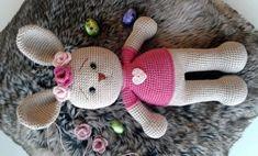 DIY Conejita tejida a crochet técnica amigurumi