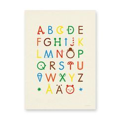 ABC Poster by Fine Little Day