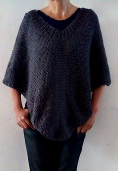 Knitting in the Town : Moonlight poncho