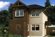 Plano de casa con atractivo diseño de dos pisos de 78 m2