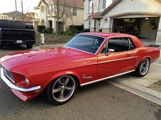 1968 J code Deluxe Mustang Coupe By Christopher Ross Mckee. Mustang Wheels, Mustang Boss, Ford Mustang Shelby, Shelby Gt500, Classic Mustang, Ford Classic Cars, Vintage Mustang, American Muscle Cars, Dream Cars