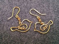cool DIY Bijoux - Couple bird earing - How to make wire jewelery 200...