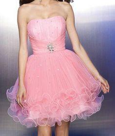 Pink Short Poofy Dress