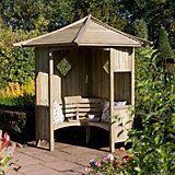 Solway Wooden Corner Arbour   Departments   DIY at B&Q