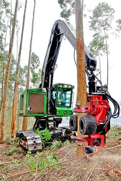 John Deere & Waratah head Woods Equipment, John Deere Equipment, Logging Equipment, Heavy Equipment, Outdoor Power Equipment, General Engineering, Civil Engineering, Big Tractors, Armored Truck