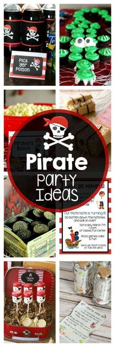 Pirate Party Ideas-Invitations, Decorations, Food, Games and More