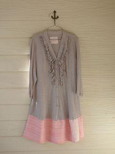 Womens Clothing Romantic Dress Khaki and Orange by DressMeLoveLee, $44.75