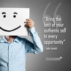 'Bring the best of your authentic self to every opportunity' - John Jantch #onlinemarketing #marketing #quote #tip #socialmedia #blog #blogging #emailmarketing #email #website #design #graphicdesign #webdesign