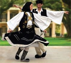 Dancing often takes place in traditional costumes to celebrate Greek Pascha on Easter Day
