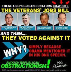 Republicans and the Veterans' Jobs Bill
