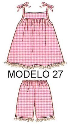 Handmade by Juliana Melo: Ref: 127 - Molde children's dresses Baby Girl Patterns, Baby Clothes Patterns, Girl Dress Patterns, Clothing Patterns, Little Girl Dresses, Baby Sewing, Kids Wear, Kids Outfits, Kids Fashion